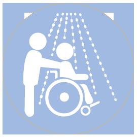Service à domicile,aide à la toilette, habillage